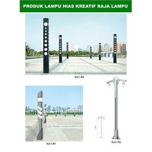 Tiang Lampu Taman Kreatif 42