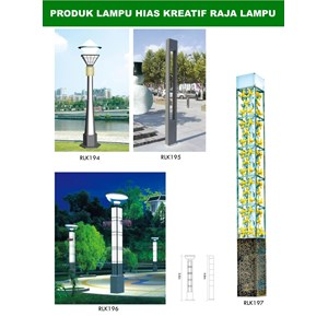 Tiang Lampu Taman Kreatif 44