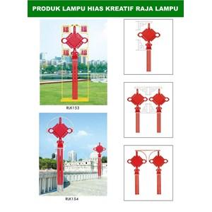 Tiang Lampu Taman Kreatif 53