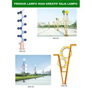 Tiang Lampu Taman Kreatif 56