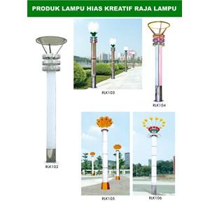 Tiang Lampu Taman Kreatif 62