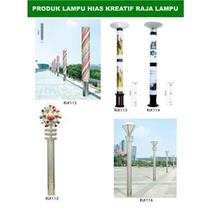 Tiang Lampu Taman Kreatif 64