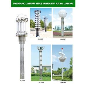 Tiang Lampu Taman Kreatif 68