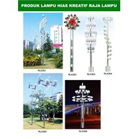 Tiang Lampu Taman Kreatif 73