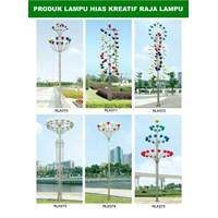 Tiang Lampu Taman Kreatif 75