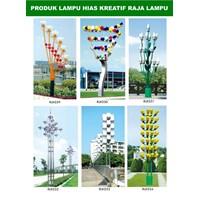 Tiang Lampu Taman Kreatif 76