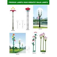 Tiang Lampu Taman Kreatif 78