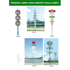 Tiang Lampu Taman Kreatif 77