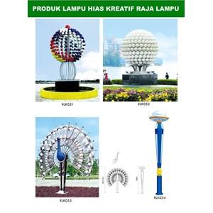 Tiang Lampu Taman Kreatif 80