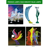 Tiang Lampu Taman Kreatif 83 1