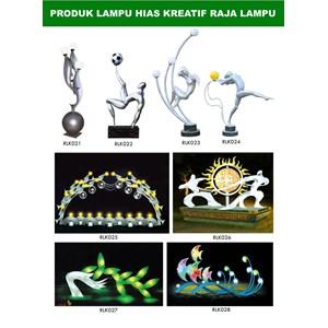 Tiang Lampu Taman Kreatif 84