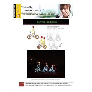 Lampu Hias Unik Model Sepeda