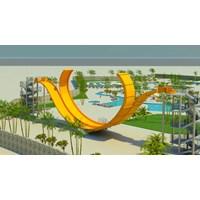 Distributor Seluncuran Water Park D-Wave Slide 3