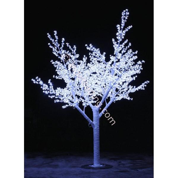 Lampu Hias Motif Bunga Sakura Putih