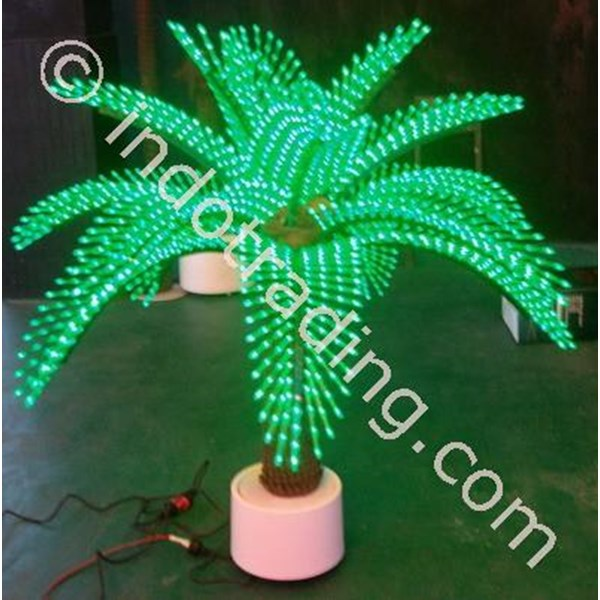 Lampu Hias Pohon Sawit Mini Hijau
