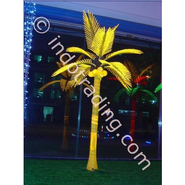 Lampu Hias Pohon Kelapa Medium Kuning