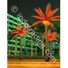 Lampu Hias Pohon Kelapa Besar Merah 2
