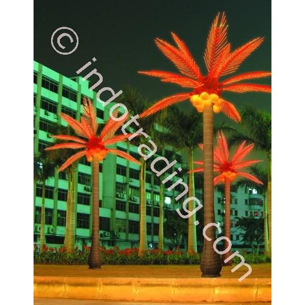 Lampu Hias Pohon Kelapa Besar Merah