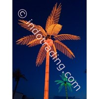 Lampu Hias Pohon Kelapa Besar Orange