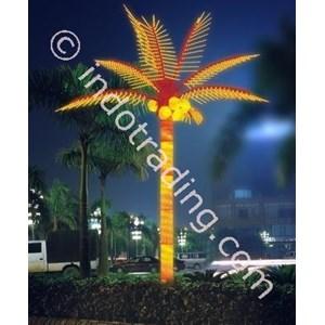 Lampu Hias Pohon Kelapa Besar Dua Warna