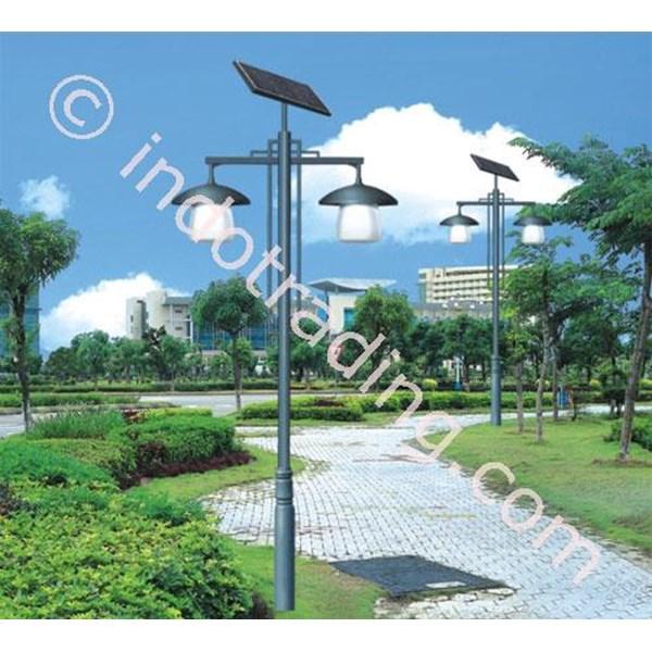 Tiang Lampu Taman Tenaga Surya 01