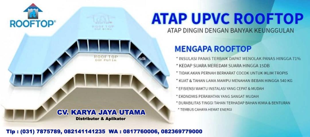 Jual ATAP DINGIN ROOFTOP UPVC Harga Murah Sidoarjo oleh CV