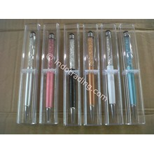 Souvenir Pulpen Crystal Stylus Plus Box Mika