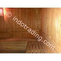 Kamar Sauna Kayu Pinus Asli Indonesia 1