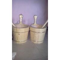 Jual Ember Dan Gayung Kayu Sauna