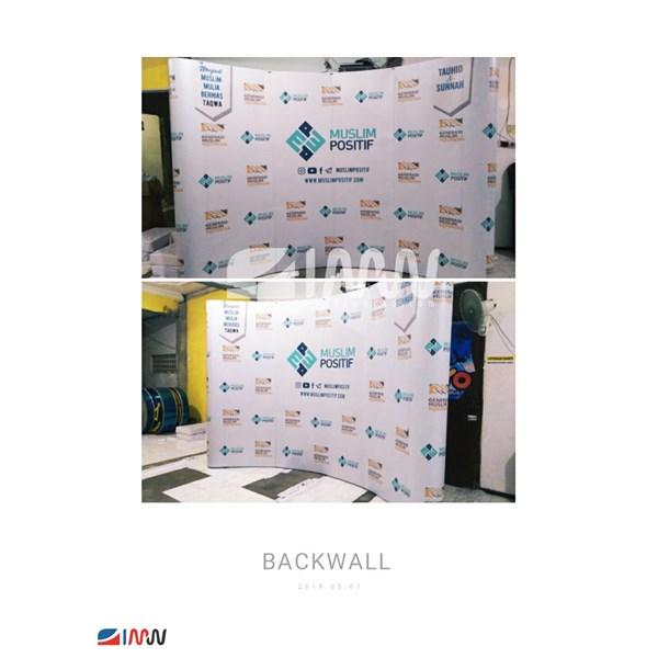 Backwall Lengkung 3x4