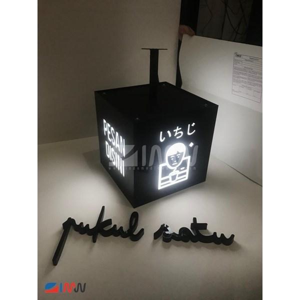 Neon Box Kubus Akrilik