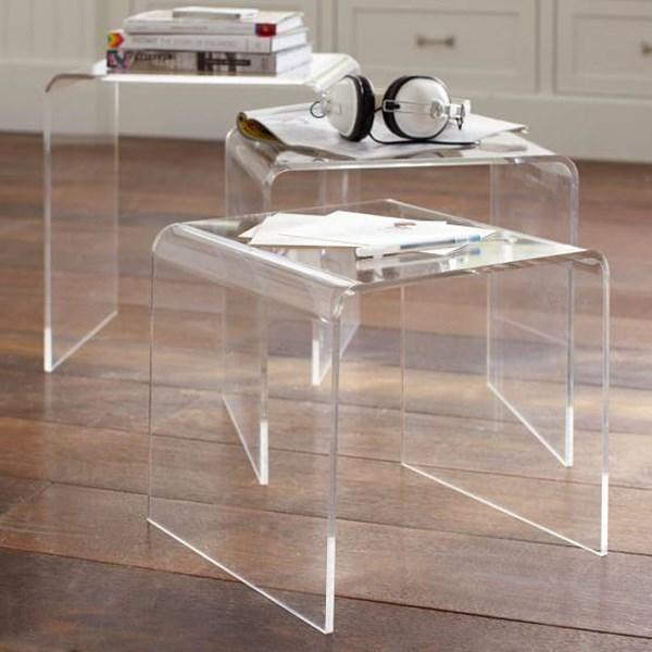 Kursi dan Meja acrylic
