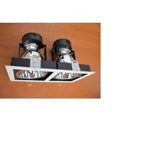Lampu Downlight Kap Lampu Double Persegi 4inch  1