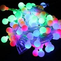 Lampu LED Natal Bulat RGB Warna-Warni  Ungu
