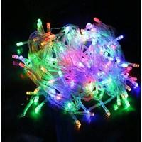 Lampu LED Natal Beras 10m RGB Warna-Warni Ungu