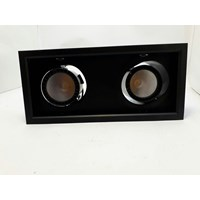 Lampu Downlight SAT 8821302 2x30W Hitam