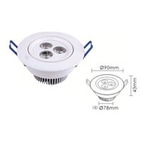 Jual Oscled Led Downlight Ac 220V 3X3w Warmwhite Tipe Dl-23B