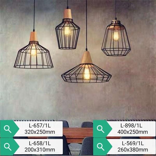 Lampu Gantung Dekoratif L-657/1L  Fitting E27