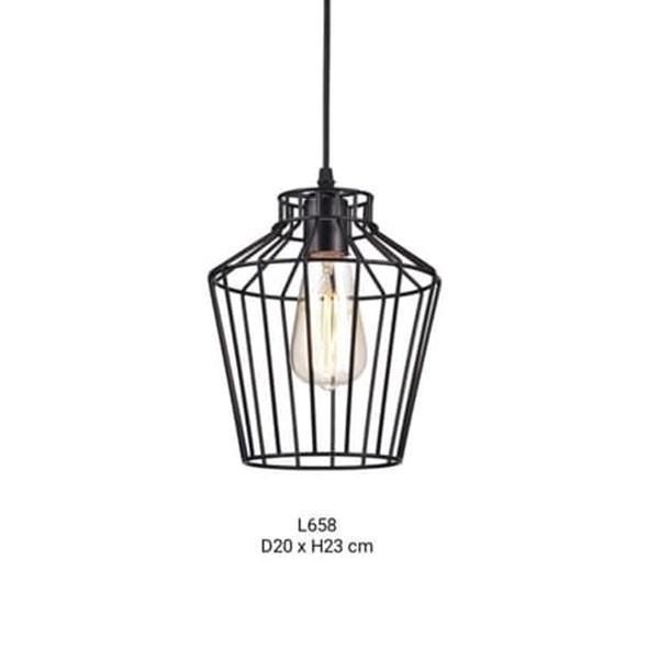 Lampu Gantung Dekoratif L-658/1L Fitting E27