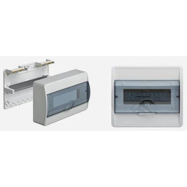 Box Panel MCB Flush Mounting Icos Pintu Transparan  8 Module 1 Row VS 108 TVA