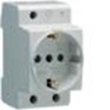 Stop Kontak Din Rail Socket ( Schuko Standard 16A ) SN010