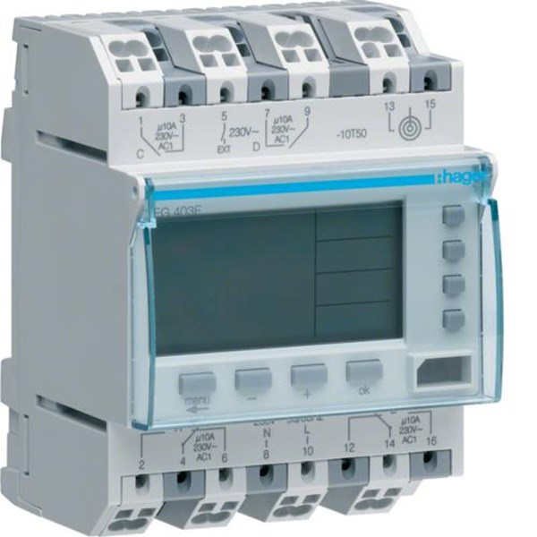 Timers Hager digital Time Switches EG293B