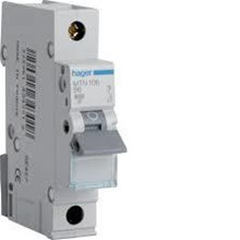 Mcb Hager Single Phase (1Pole) 4.5 Ka 6A-40A Tipe