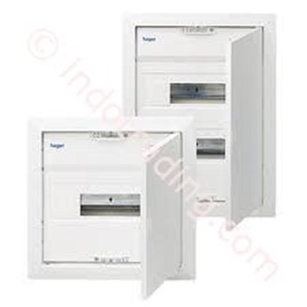 Distribution Box Flush Mounting Hager Volta Pintu Metal 12 Group Vu 12NSG