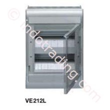 Aksesoris Listrik Vector Hager Pintu Transparan 24 Module 2 Row VE 212U