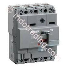 Mccb Hager 4 Phase (4Pole) 18kA 160A Tipe HDA161P