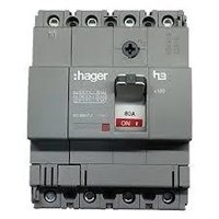 Mccb 3 Phase (3Pole) 40Ka Hager Rating 16A-100A Type X160