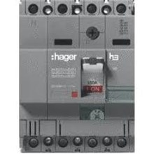 Mccb Hager 4 Phase (4Pole) 40Ka Rating 125A  hna 126p