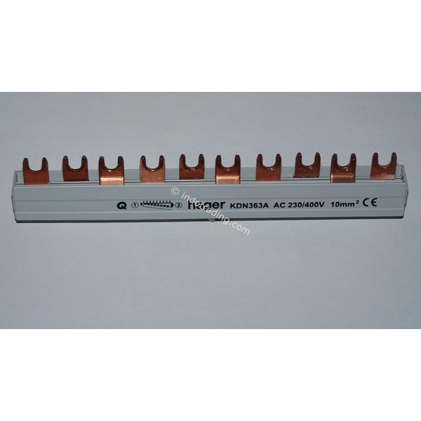 Aksesoris Listrik Busbar Hager 1 Pole Without Insulation COMB13 Mond 63A Tipe KB163I