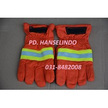 FIREFIGHTER GLOVES SARUNG TANGAN SAFETY PEMADAM KEBAKARAN NOMEX ORANGE